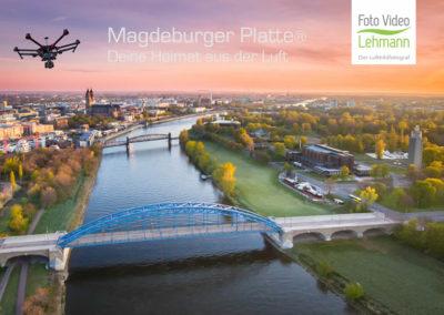 Sternbrücke Sonnenaufgang Magdeburger Platte