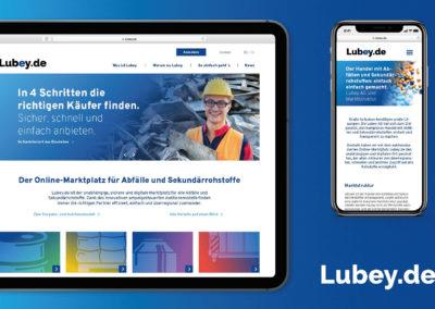 Startseite Webseite lubey.de