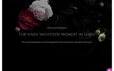 Funeral Marketplace: Ein zentraler Online-Marktplatz für Hersteller, Dienstleister und Kunden